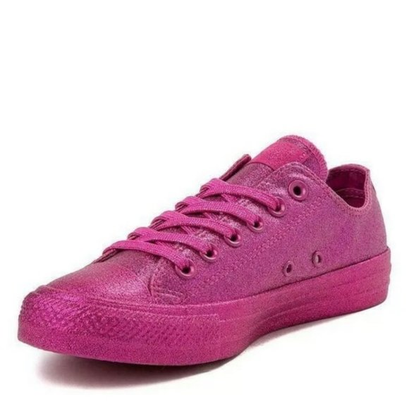 Pink Glitter Chucks Womens
